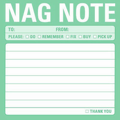 KNOCK knock NAG NOTE keep it SIMPLE sticky NOTES Home OFFICE desk