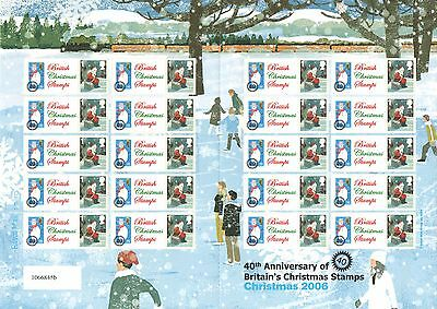TS-104 2006 40 Years of Christmas Stamps 1st Class Themed Smilers Sheet