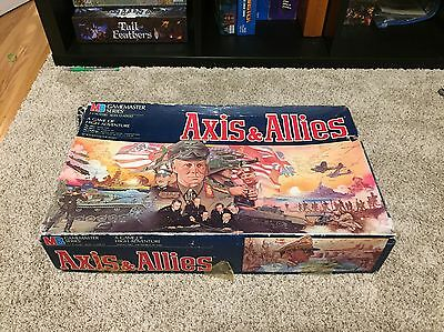 1987 MB AXIS & ALLIES WWII Gamemaster Series Board Game - Original & Organized
