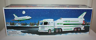 Hess 1999 Truck and Space Shuttle with Satellite - New in Box