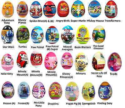 30 Different Surprise Eggs Toy+Candy+Stickers Perfect For Easter B'day Lootbags