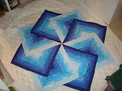 BLUE WINDMILL QUILT TOP - Not Quilted-Machine Pieced, Made in the USA!