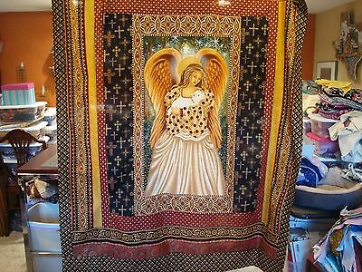 ANGEL & LAMB QUILT TOP - Not Quilted-Machine Pieced, Made in the USA!