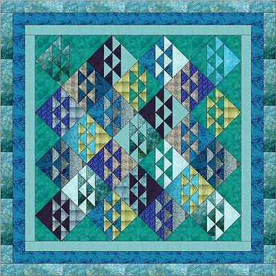 OCEANS AWAY! QUILT TOP - Not Quilted-Machine Pieced, Made in the USA!
