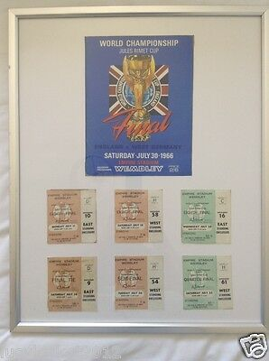 1966 World Cup Original Programme & 6 Tickets  Very Rare Set Collectors Items
