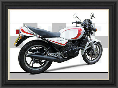 Yamaha Rd350 Lc Motorcycle Print /  Motorcycle Poster (1981)