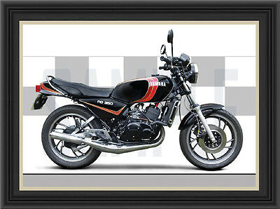 Yamaha Rd350 Lc Motorcycle Print /  Classic Motorcycle Poster