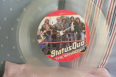 "STATUS QUO - The Wanderer - Clear Vinyl (12"" SINGLE) . FREE UK P+P ............."