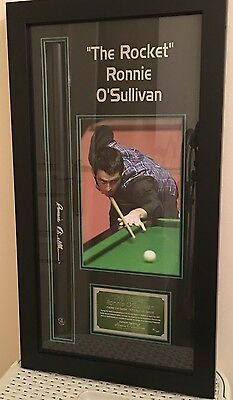 RARE Hand Signed Ronnie O'Sullivan Snooker Cue Fastest 147 Break No 73/147