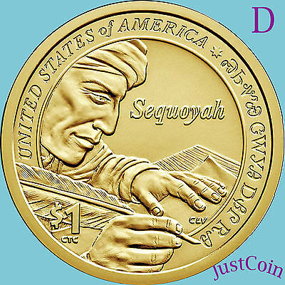2017-D Native American Sacagawea Dollar From Mint Roll Uncirculated Presale