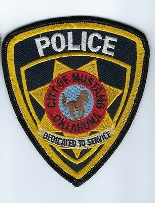 Mustang (Canadian County) OK Oklahoma Police Dept. patch - NEW! *Horse*
