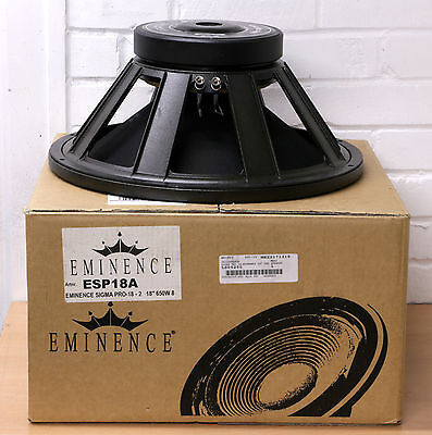"EMINENCE SIGMA PRO 18A-2 professional 18"" High demand Bass performance NEW"