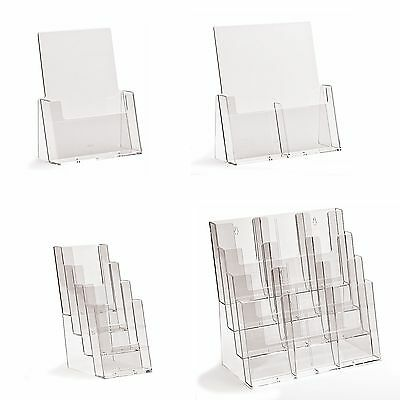 Taymar Leaflet Holders / Display Stands For Counter Top Use A6 DL Trifold A5 A4