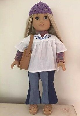 American Girl Doll Julie Albright In Meet Outfit