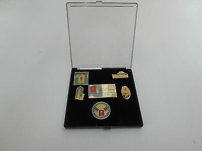 Albertville 1992 Winter Olympic Games 5 Pin Badges Set In Presentation Case