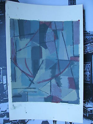 Margaret PHILLIPS. Original Mid Century Signed Color Abstract Print.1960