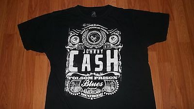 Cool Zion Rootswear XL Johnny Cash Folsom Prison Blues Country Music T-Shirt