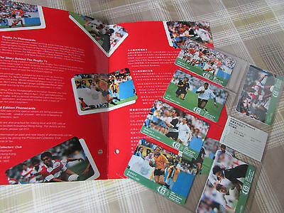 Hong Kong RUGBY 7s / Invitation Sevens 1991 Set with 6 Unused Cards & Folder