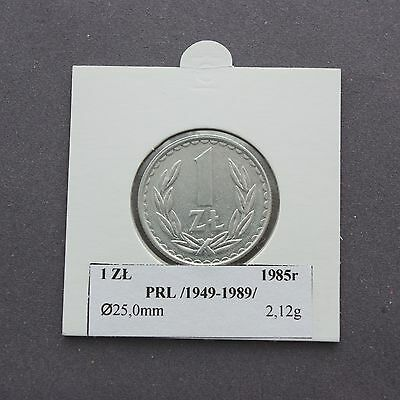 1 Zloty 1985 Poland People's Republic coin old collectible