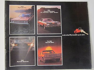 Original 1969 Plymouth Sales Brochure Fury Barracuda GTX Road Runner More Listed