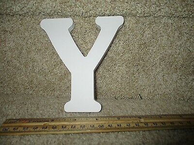 Y Small Wonders Decorative Wall Decals Nursery Decor Letter White Wooden Craft