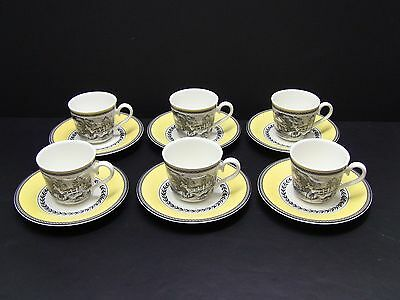 Villeroy Boch Audun Ferme Cups and Saucers / Set of 6