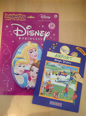 Imaginetics Disney Princess Magnets & playboard ++ Uniset Airport Magic Stickers