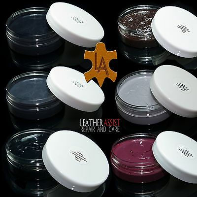 Leather Colour Dye Restorer Balm Faded Worn Scuffs BMW Cars Seats Repair Fixing