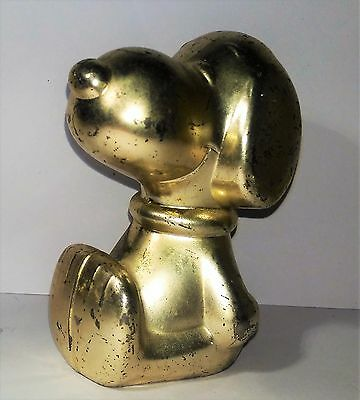 Snoopy Peanuts - Vintage 1958-1960 Money Bank Statue Ornament - Silver Plated