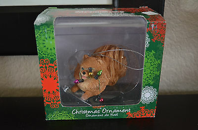 Sandicast Christmas Ornament - Pomeranian, Orange