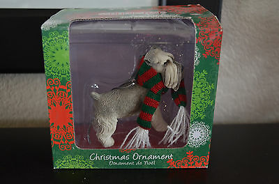 Sandicast Christmas Ornament - Schnauzer UC, Gray