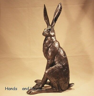 Sitting Hare Large Frith Bronze Hare Paul Jenkins