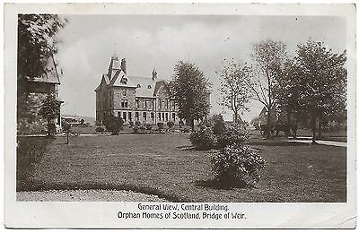 Central Bldg Orphan Homes of Scotland Bridge of Weir real photo c1918 unused