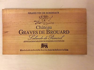 4 x vintage genuine French Bordeaux wine box crate lid / side panel