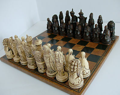 Oriental Resin Chessmen With Board