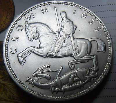 1935 5/- King George V silver Jubilee Crown coin in an extremely high grade