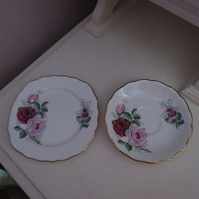 Royal vale plate & saucer no cup pretty pink rose