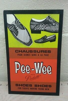 Vintage advertising pee-wee rochette shoes sign display store
