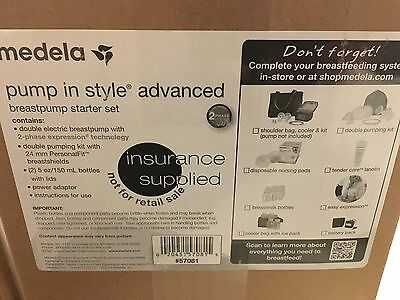 57081 NEW Medela Pump-In-Style Advanced Breastpump Starter Set Double Feeding
