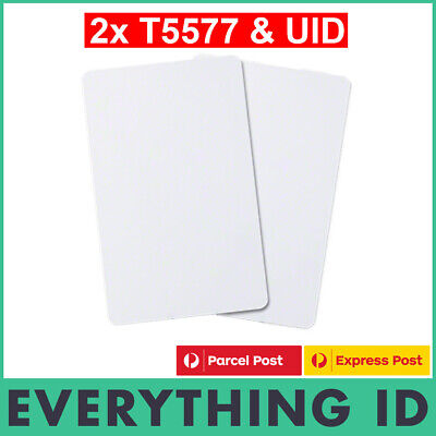 2 X Dual Format T5577 T5557 & Mf Classic Uid Changeable 1K S50 Ic 13.56Mhz Card