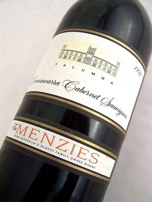 1992 YALUMBA The Menzies Cabernet Sauvignon Isle of Wine