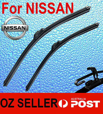 Pair Frameless Windscreen Wiper Blade For NISSAN X-Trail T32 2014  - 2016