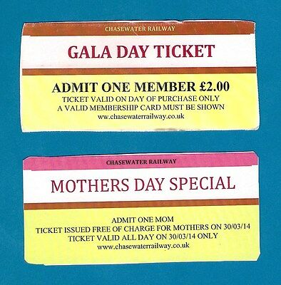 Chasewater Railway Tickets - Gala Day Members Ticket: Mothers Day Free Mom: 2014
