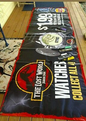 The Lost world Jurassic Park Burger King Banner 9 feet VERY RARE