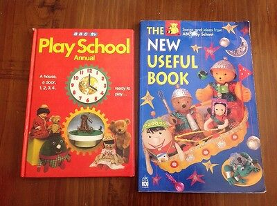 BBC TV PLAY SCHOOL ANNUAL TV Storybook. THE NEW USEFUL BOOK. BASED ON ABC TV.