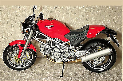 Ducati Monster Motor Bike in Red - 1:12 scale - Minichamps 122 120100