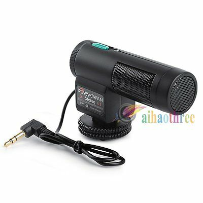 Rowa MIC109 Professional Microphone Mic Stereo For DSLR Camera Video Camera【AU】