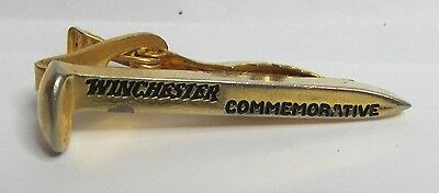 WINCHESTER COMMEMORATIVE GOLDEN PIKE figural tiebar tie clasp advertising promo