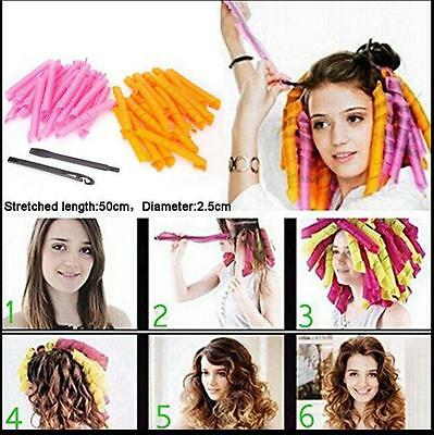40pcs 50cm Magic Hair Curlers Curl Formers Spiral Ringlets Leverage Rollers