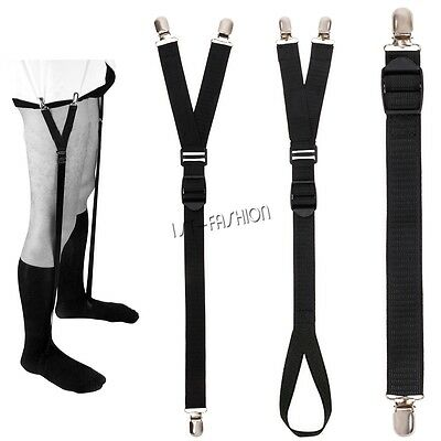 Straight Y Stirrup Style Sock Garters Unifrom Shirt Stays Holders Fasteners